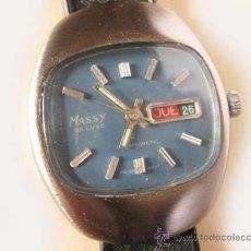 Relojes de pulsera: RELOJ VINTAGE MASSY DE LUXE - FUNCIONANDO. Lote 36753183