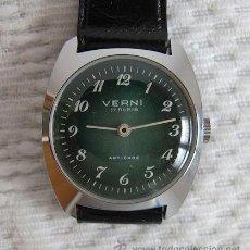 Relojes de pulsera: RELOJ DE CUERDA ANTIGUO VERNI NOS. Lote 36646155