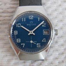 Relojes de pulsera: RELOJ DE CUERDA ANTIGUO MAJESTIC NOS CADETE. Lote 36646286