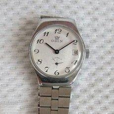 Relojes de pulsera: RELOJ DE CUERDA ANTIGUO NOS ODIN ESFERA BLANCA. Lote 36646365