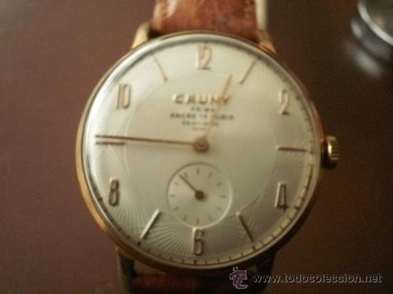 Relojes de pulsera: PRECIOSO RELOJ CAUNY PRIMA (ESFERA texturada) - Foto 5 - 161974005