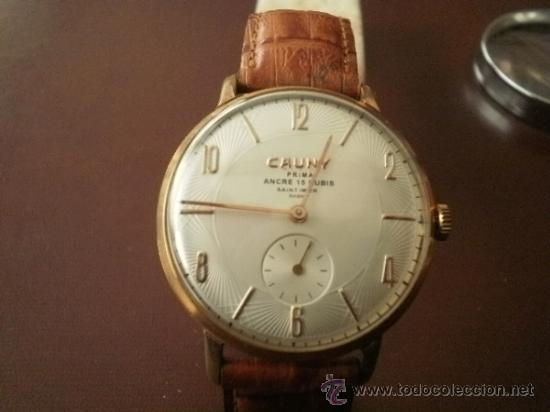 Relojes de pulsera: PRECIOSO RELOJ CAUNY PRIMA (ESFERA texturada) - Foto 4 - 161974005