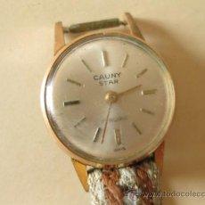 Relojes de pulsera: RELOJ DE DAMA SEÑORA O SEÑORITA MARCA CAUNY STAR CHAPADO EN ORO. Lote 37861189