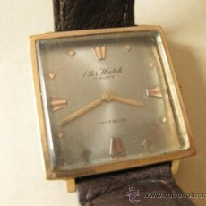 Relojes de pulsera: RELOJ VINTAGE CLER WATCH DE CUERDA - FUNCIONANDO. Lote 38201710