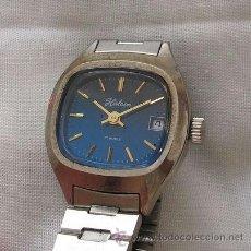 Relojes de pulsera: RELOJ DE CUERDA ANTIGUO HALCON ESFERA AZUL NOS. Lote 36895366