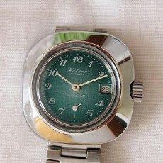 Relojes de pulsera: RELOJ HALCON DE CUERDA AÑOS 70 NOS ESFERA VERDE. Lote 36895413