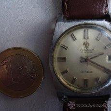Relojes de pulsera: ANTIGUO Y RARO RELOJ DE CABALLERO A CUERDA --TRESSA--CON BUENA PULSERA PIEL Y FUNCIONANDO PERFECTO. Lote 37231041