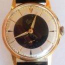 Relojes de pulsera: PRECIOSO RELOJ DE PULSERA A CUERDA BIFORA PARA CADETE, CON CORREA DE CHAROL AÑOS 50/60,VINTAGE. Lote 33708876
