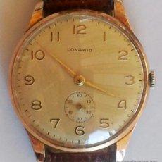 Relojes de pulsera: RELOJ DE PULSERA SUIZO LONGWID DE CABALLERO,AÑOS 50-60 VINTAGE,FUNCIONA A CUERDA,BUEN ESTADO GENERAL. Lote 37691751