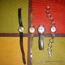 Relojes de pulsera: 4 RELOJES DE SEÑORA, DE CUERDA,TOTALMENTE FUNCIONALES.. Lote 37731010