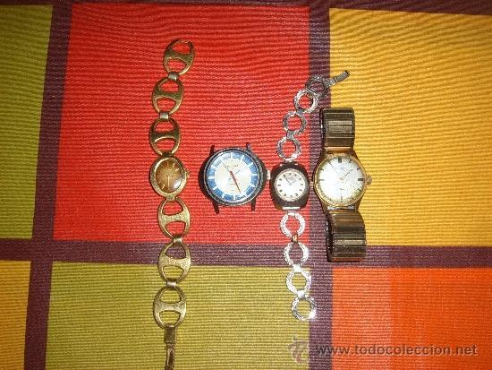 4 RELOJES DE CUERDA (Relojes - Pulsera Carga Manual)