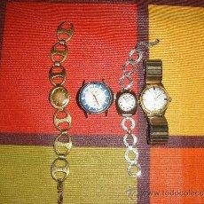Relojes de pulsera: 4 RELOJES DE CUERDA. Lote 37732335