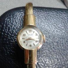 Relojes de pulsera: PEQUEÑO RELOJ SEÑORA CRISTAL WATCH. 17 RUBIS. SUIZO. CHAPADO EN ORO. FUNCIONANDO. Lote 37811931