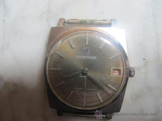 Relojes de pulsera: Reloj Festina Incabloc 17 rubis festina 3270, esfera 3 cms. Para reparar - Foto 2 - 37850201