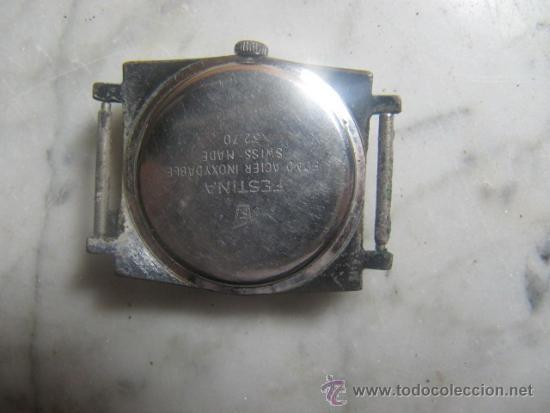 Relojes de pulsera: Reloj Festina Incabloc 17 rubis festina 3270, esfera 3 cms. Para reparar - Foto 3 - 37850201