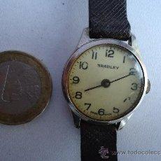 Relojes de pulsera - ANTIGUO Y RARO RELOJ DE CUERDA CADETE SEÑORA, SUIZO CON PULSERA PIEL--BRADLEY--FUNCIONANDO PERFECTO - 37888435