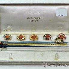 Relojes de pulsera: RELOJ CON INTERCAMBIO DE CARCASA, JEAN PERRET. DIÁMETRO RELOJ SIN ESFERA: 1,5 CM.. Lote 38105381