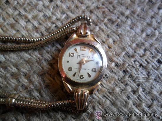 Relojes de pulsera: RELOJ DE PULSERA DE SEÑORA CON BAÑO DE ORO Y CAJA DE ACERO - MARCA KOUCE - SUIZO - Foto 2 - 38404853