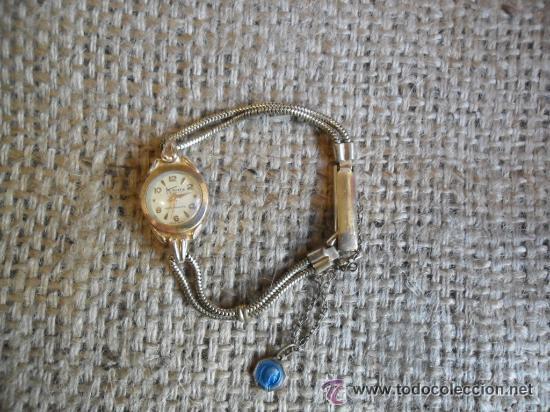 Relojes de pulsera: RELOJ DE PULSERA DE SEÑORA CON BAÑO DE ORO Y CAJA DE ACERO - MARCA KOUCE - SUIZO - Foto 3 - 38404853