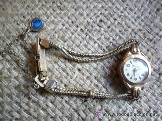 Relojes de pulsera: RELOJ DE PULSERA DE SEÑORA CON BAÑO DE ORO Y CAJA DE ACERO - MARCA KOUCE - SUIZO - Foto 5 - 38404853