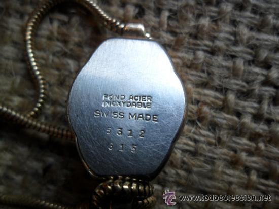 Relojes de pulsera: RELOJ DE PULSERA DE SEÑORA CON BAÑO DE ORO Y CAJA DE ACERO - MARCA KOUCE - SUIZO - Foto 6 - 38404853