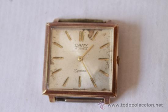 RELOJ PULSERA SUIZO MARCA CAMY 17 RUBIS SPUTNY NO FUNCIONA (Relojes - Pulsera Carga Manual)