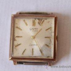 Relojes de pulsera: RELOJ PULSERA SUIZO MARCA CAMY 17 RUBIS SPUTNY NO FUNCIONA. Lote 38458825
