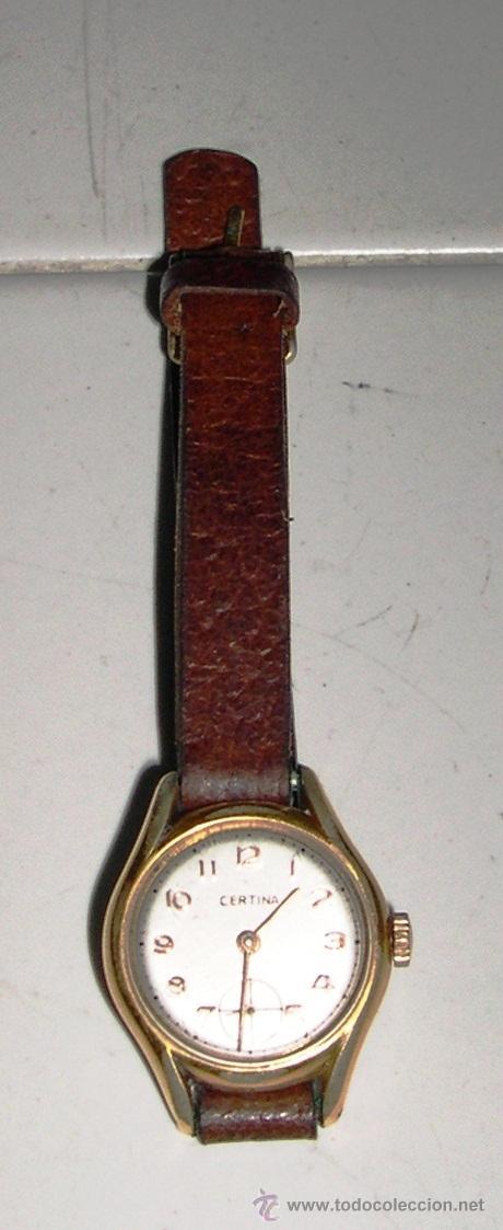 RELOJ DE SEÑORA, MARCA CERTINA, FUNCIONANDO (Relojes - Pulsera Carga Manual)