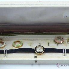 Relojes de pulsera: RELOJ DE MUJER CON ANILLAS INTERCAMBIABLES, MARCA: HENO. TAMAÑO CAJA: 21X10 CM.. Lote 39746595