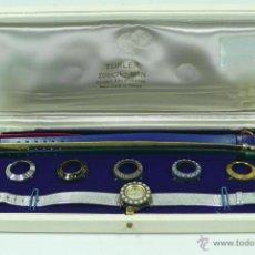 Relojes de pulsera: RELOJ DE PULSERA DE MUJER TÜRLER, CON CORREAS Y AROS DE ESFERA INTERCAMBIABLES,. Lote 39751044