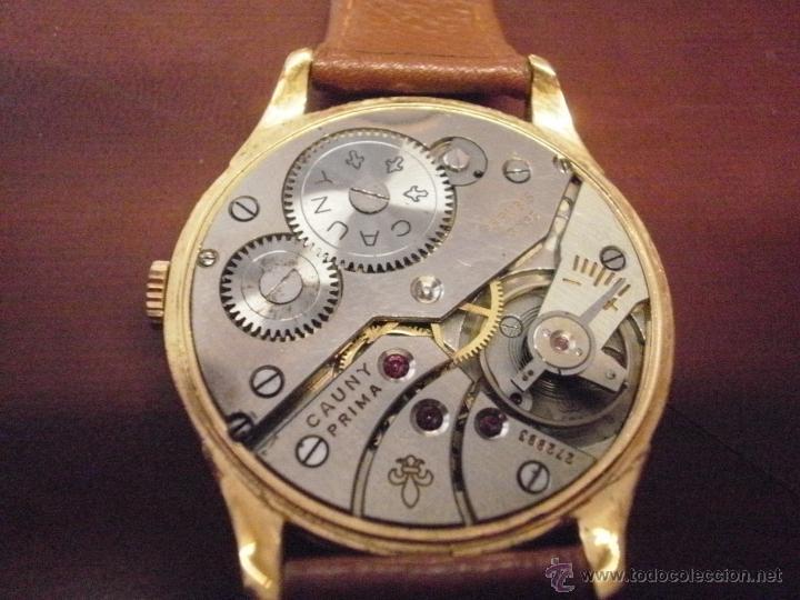 Relojes de pulsera: PRECIOSO RELOJ CAUNY PRIMA (ESFERA GRANDE texturada) - Foto 5 - 36813369