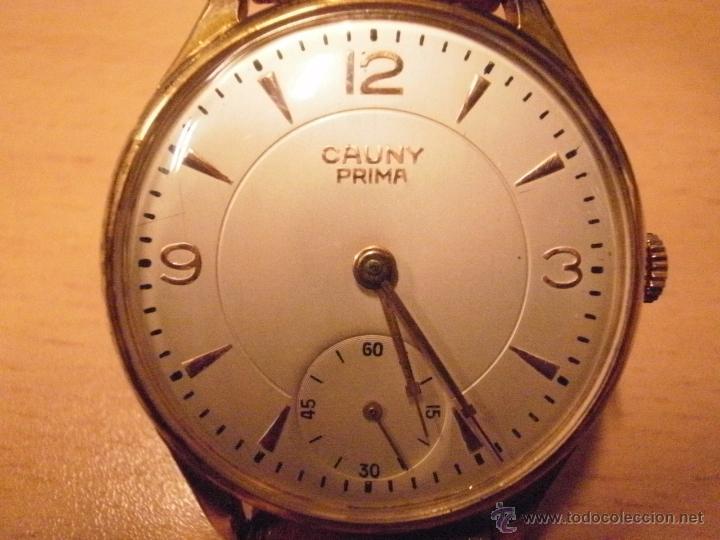 Relojes de pulsera: PRECIOSO RELOJ CAUNY PRIMA (ESFERA GRANDE texturada) - Foto 6 - 36813369