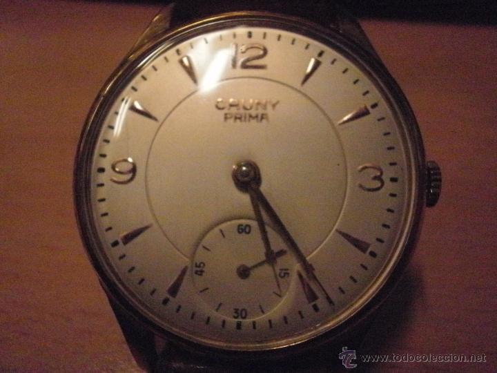 Relojes de pulsera: PRECIOSO RELOJ CAUNY PRIMA (ESFERA GRANDE texturada) - Foto 7 - 36813369