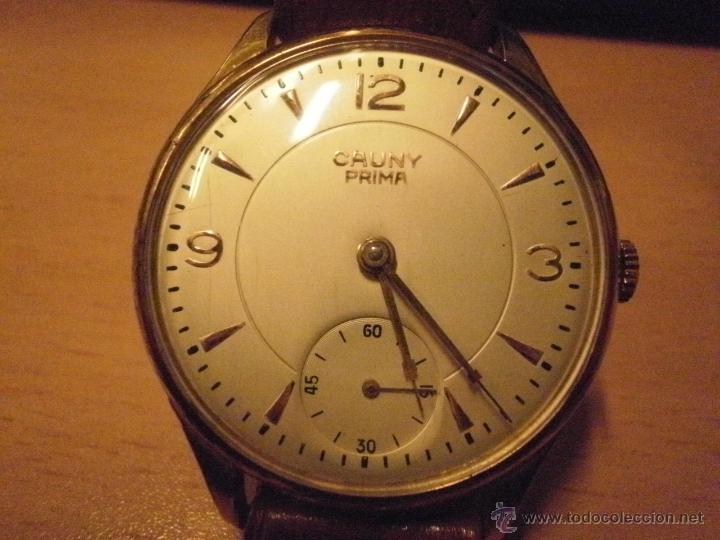 Relojes de pulsera: PRECIOSO RELOJ CAUNY PRIMA (ESFERA GRANDE texturada) - Foto 8 - 36813369