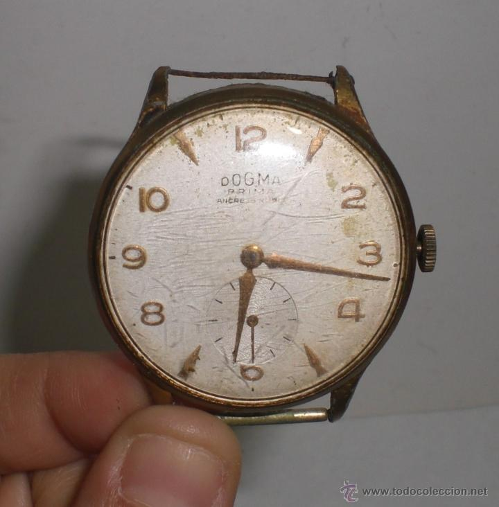 Reloj de Pulsera Antiguo. Dogma - Prima. Ancre 15 Rubis. Plaqué Oro.  Funciona. 740d3e14b969