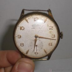 Relojes de pulsera: RELOJ DE PULSERA ANTIGUO. DOGMA - PRIMA. ANCRE 15 RUBIS. PLAQUÉ ORO. FUNCIONA.. Lote 40694205