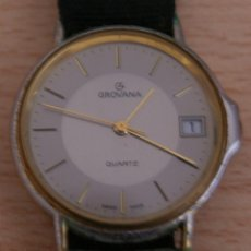 Relojes de pulsera: ANTIGUO RELOJ GROVANA QUARTZ 1035 1 - STAINLESS STEEL BACK CALENDARIO. Lote 41041583