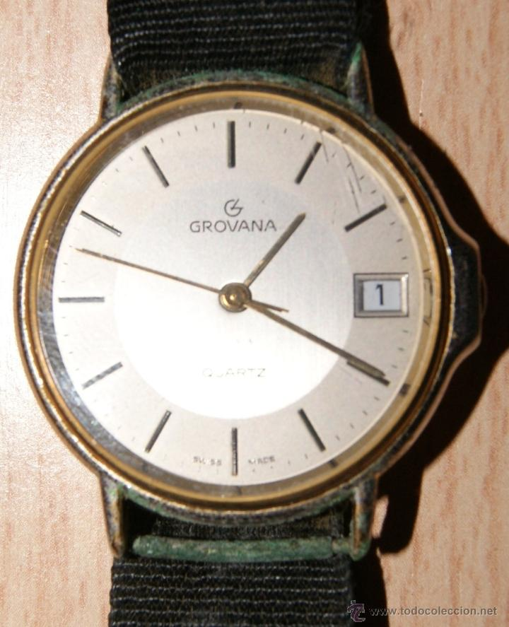 Relojes de pulsera: Antiguo Reloj GROVANA QUARTZ 1035 1 - Stainless Steel Back calendario - Foto 5 - 41041583