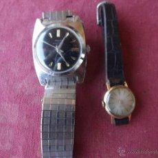 Relojes de pulsera: DOS RELOJES DE CUERDA. Lote 41272136