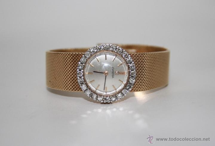 Reloj de mujer omega oro 18 kt y 24 diamantes Vendido en