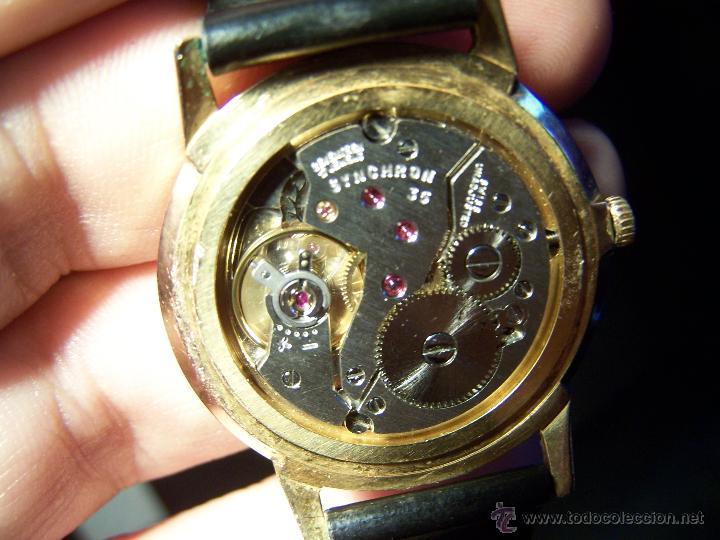 Relojes de pulsera: Antiguo reloj de pulsera de carga manual y de caballero Cyma Syncrhon 35 - Foto 6 - 41764012