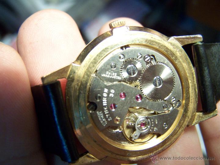 Relojes de pulsera: Antiguo reloj de pulsera de carga manual y de caballero Cyma Syncrhon 35 - Foto 7 - 41764012