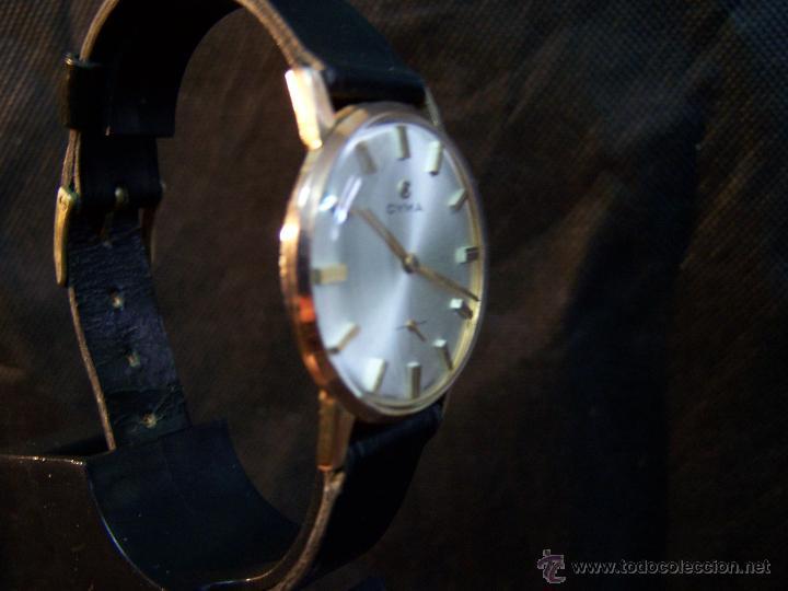 Relojes de pulsera: Antiguo reloj de pulsera de carga manual y de caballero Cyma Syncrhon 35 - Foto 19 - 41764012