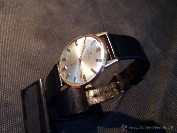 Relojes de pulsera: Antiguo reloj de pulsera de carga manual y de caballero Cyma Syncrhon 35 - Foto 23 - 41764012