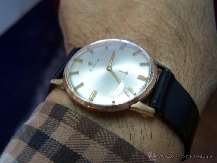Relojes de pulsera: Antiguo reloj de pulsera de carga manual y de caballero Cyma Syncrhon 35 - Foto 27 - 41764012
