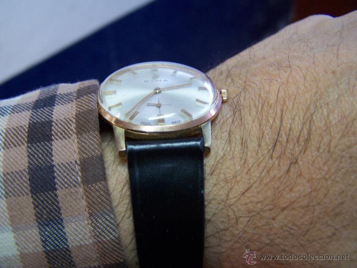 Relojes de pulsera: Antiguo reloj de pulsera de carga manual y de caballero Cyma Syncrhon 35 - Foto 28 - 41764012