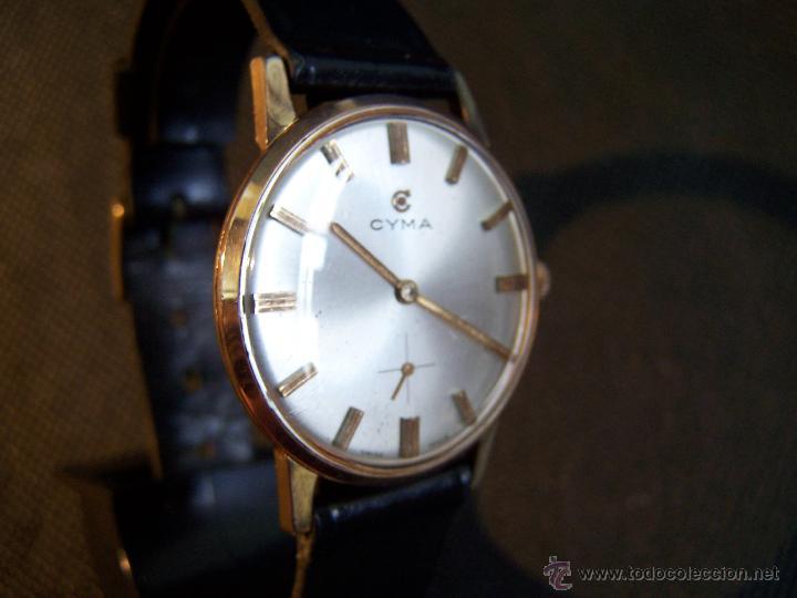 Relojes de pulsera: Antiguo reloj de pulsera de carga manual y de caballero Cyma Syncrhon 35 - Foto 31 - 41764012