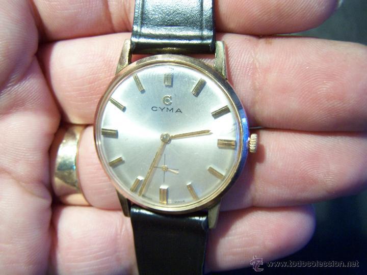 Relojes de pulsera: Antiguo reloj de pulsera de carga manual y de caballero Cyma Syncrhon 35 - Foto 32 - 41764012