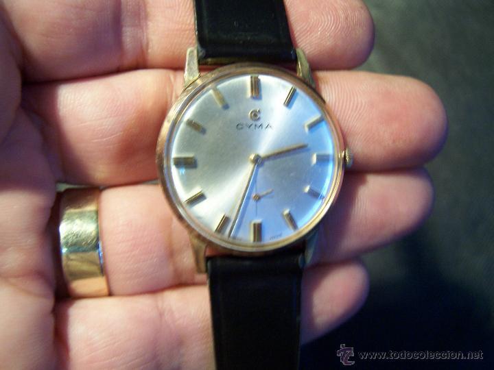Relojes de pulsera: Antiguo reloj de pulsera de carga manual y de caballero Cyma Syncrhon 35 - Foto 33 - 41764012