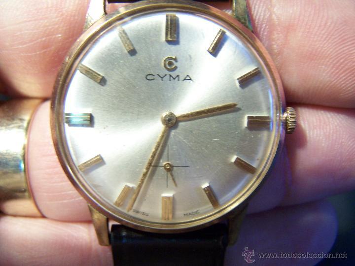 Relojes de pulsera: Antiguo reloj de pulsera de carga manual y de caballero Cyma Syncrhon 35 - Foto 34 - 41764012